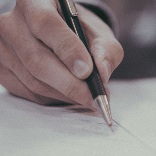 hand pen writing paper barriston business law